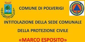 Intitolazione sede Protezione civile