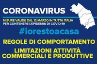 Coronavirus - Misure valide dal 12 marzo in tutta Italia