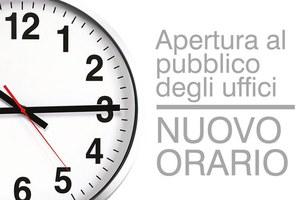 Nuovo orario di apertura al pubblico degli uffici dell'Unione